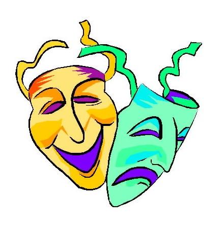 színház-rajz-álarcok
