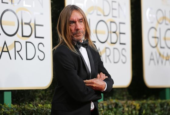 Musician Iggy Pop arrives at the 74th Annual Golden Globe Awards in Beverly Hills